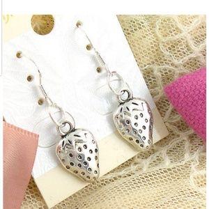 Sterling Silver Strawberry Earrings